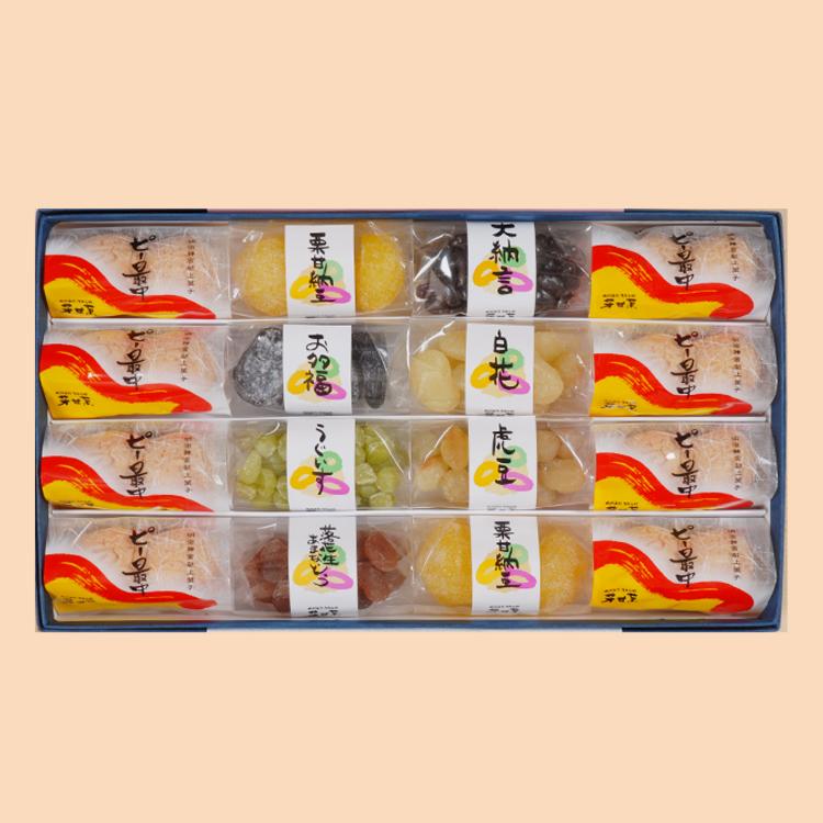 手むき塩南京(小)/手むき塩吹南京(小)/さや付落花生 手むきバターピーナッツ(小)/落花生甘納豆(小)